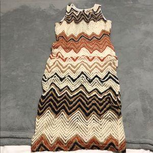 Below the knee patterned dress